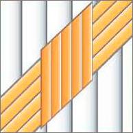 Реечный потолок75C и150C (закрытый), цвета2521, 153 и141, комплект
