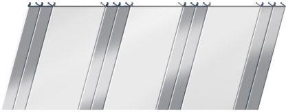 Матовый реечный потолок 100 P и 25 P, цвет: панель - 140, профиль - 131