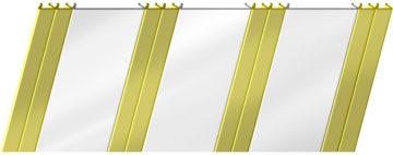 Глянцевый реечный потолок 100 P и 25 P, цвет: панель - 141, профиль - 151