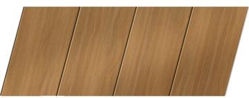 Реечный потолок с фактурой темное дерево 100 P, цвет: панель - 106