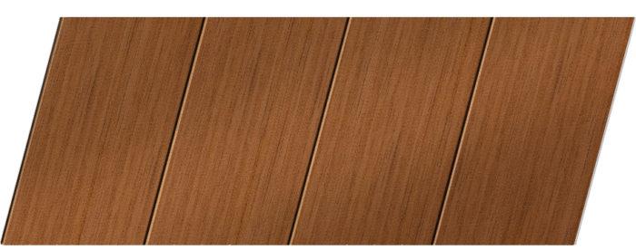 Реечный потолок с фактурой темное дерево (орех) 100 P, цвет: панель - 206