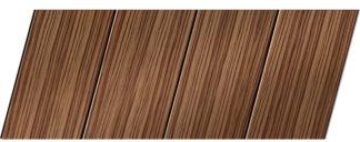 Реечный потолок с фактурой темное дерево (зебрано) 100 P, цвет: панель - 208
