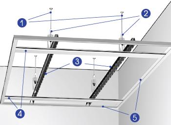 Порядок сборки реечного потолка