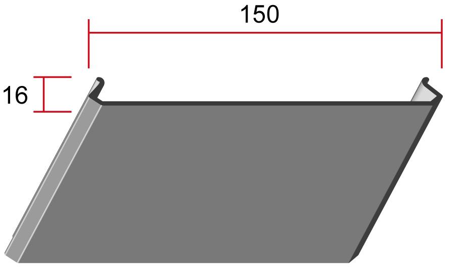 Потолочная панель 150C, 150*16мм, длина до6м
