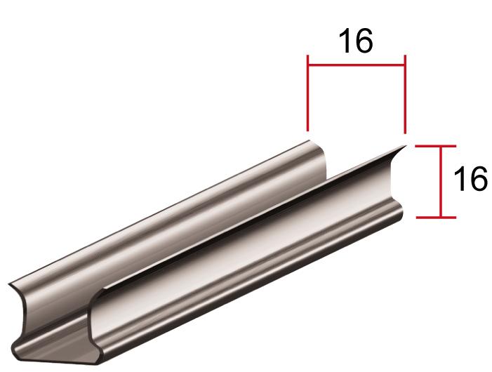 Промежуточный профиль П, 16*16мм, длина до6м