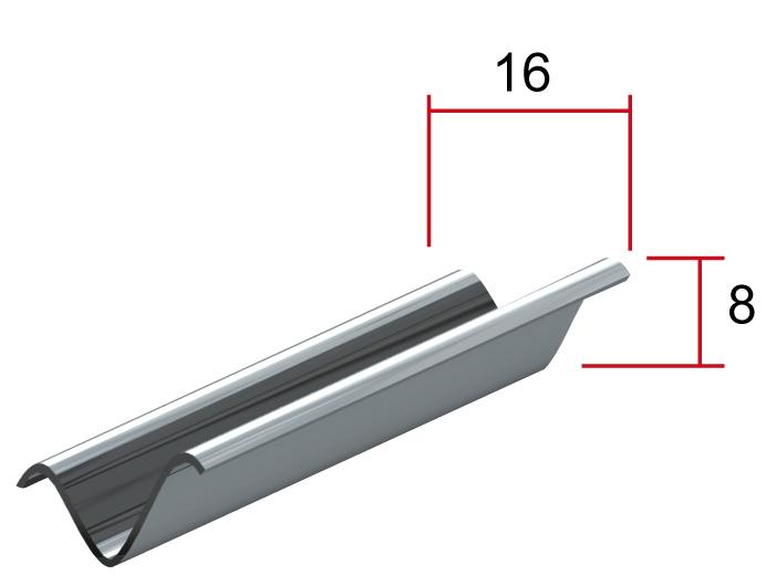 Промежуточный профиль V, 16*8мм, длина до4м