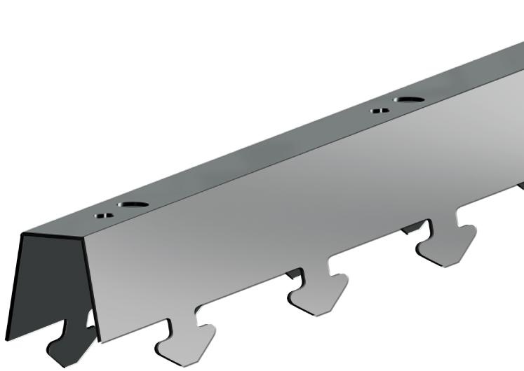 СтрингерP иC для реечных потолков 25 Р, 75 Р, 100 Р, 150 Р, 75C и150C, длина до4м