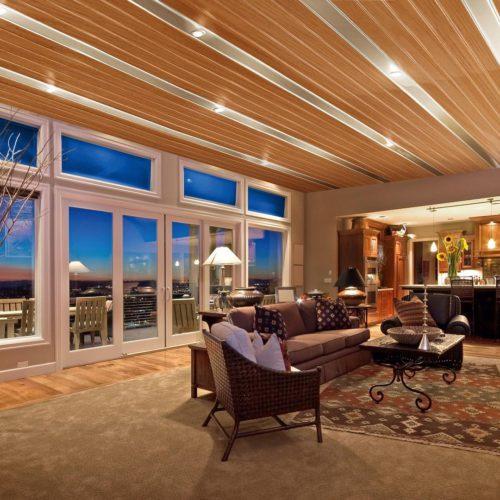 Современный реечный потолок. USA Ceiling Group.