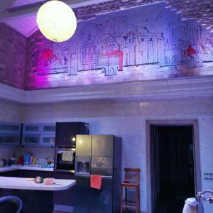 Реечный потолок в дизайне лофтав дизайне лофтав дизайне лофта. USA Ceiling Group.