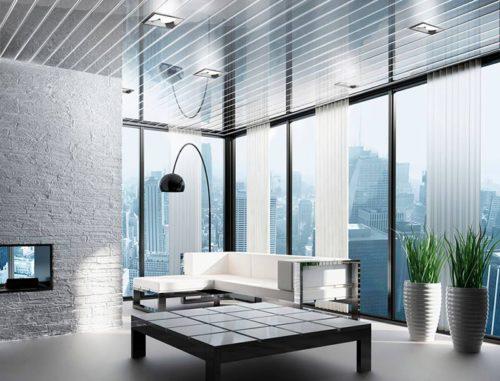 Зеркальные реечные потолки. USA Ceiling Group.
