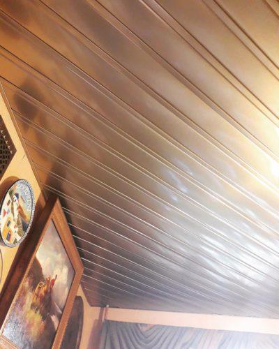 диагональный монтаж реечного ротолка. USA Ceiling Group.