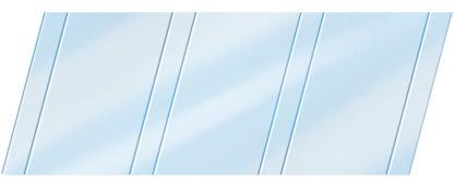 Глянцевый реечный потолок 100 P и 25 P, цвет: панель - 015 1