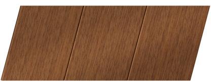 Реечный потолок с фактурой темное дерево (дуб медовый) 150 P, цвет: панель - 205