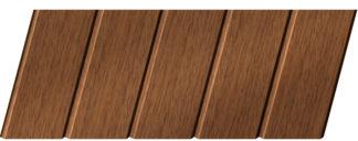 Реечный потолок с фактурой темное дерево (дуб медовый) 75 C, цвет: панель - 205