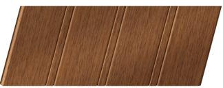 Реечный потолок с фактурой темное дерево (дуб медовый) 84 R, цвет: панель - 205
