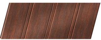 Реечный потолок с фактурой темное дерево (махагон) 84 R, цвет: панель - 209