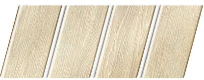 Реечный потолок с фактурой светлое дерево (дуб светлый) 84 R(V), цвет: панель - 210, профиль - 140