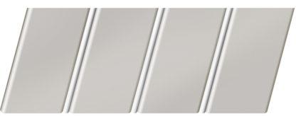 Матовый реечный потолок 84 R(V), цвет: панель - 233, профиль - 140