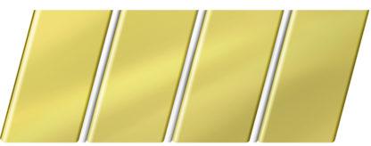 Зеркальный реечный потолок 84 R(V), цвет: панель - 151, профиль - 141