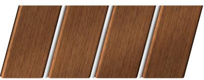 Реечный потолок с фактурой темное дерево (дуб медовый) 84 R(V), цвет: панель - 205, профиль - 141