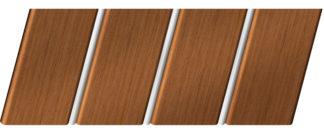 Реечный потолок с фактурой темное дерево (орех) 84 R(V), цвет: панель - 206, профиль - 141