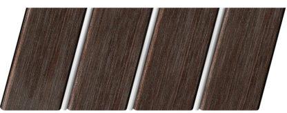 Реечный потолок с фактурой темное дерево (венге) 84 R(V), цвет: панель - 207, профиль - 141