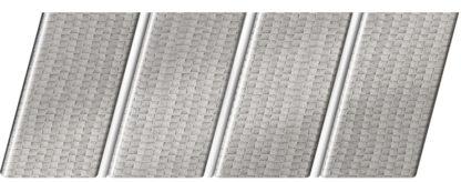 Реечный потолок с фактурой кожи 84 R(V), цвет: панель - 500, профиль - 141