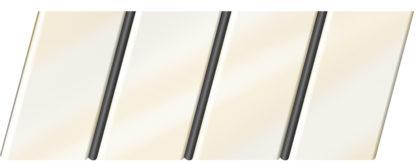 Глянцевый реечный потолок 84 R(V), цвет: панель - 040 2, профиль - 288