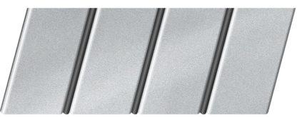 """Реечный потолок """"под металлик"""" 84 R(V), цвет: панель - 130, профиль - 288"""