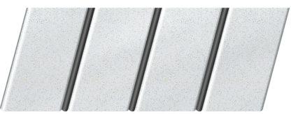 """Реечный потолок """"под металлик"""" 84 R(V), цвет: панель - 143, профиль - 288"""