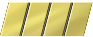 Зеркальный реечный потолок 84 R(V), цвет: панель - 151, профиль - 288