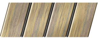 Реечный потолок с фактурой темное дерево (дуб антик) 84 R(V), цвет: панель - 204, профиль - 288