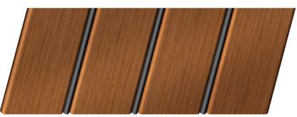 Реечный потолок с фактурой темное дерево (орех) 84 R(V), цвет: панель - 206, профиль - 288
