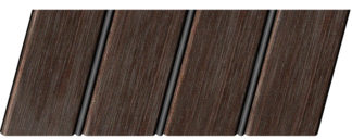 Реечный потолок с фактурой темное дерево (венге) 84 R(V), цвет: панель - 207, профиль - 288