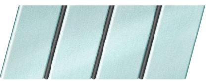 """Реечный потолок """"под металлик"""" 84 R(V), цвет: панель - 153, профиль - 288"""