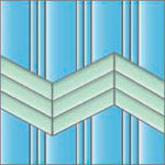 Реечный потолок 150P, 25P и 75C (закрытый),цвета 015 и 461, комплект