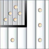 Реечный потолок 75P и150P (закрытый), цвета 143 и133, комплект