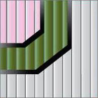 Реечный потолок 75C (закрытый), цвета 130, 561 и 7171, комплект