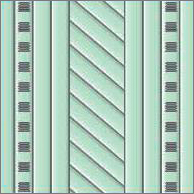 Реечный потолок75C (закрытый), с пробивкой, цвет461, комплект