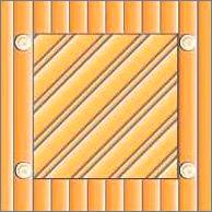 Реечный потолок 75C и84R (закрытый), цвета 153 и2521, профиль 2521, комплект