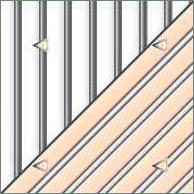 Реечный потолок84R (закрытый), цвета141 и0402, профиль 0402, комплект