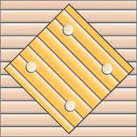 Реечный потолок 75C (закрытый), цвета 2521 и153, комплект