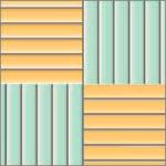 Реечный потолок75C (закрытый), цвет461и2521, комплект