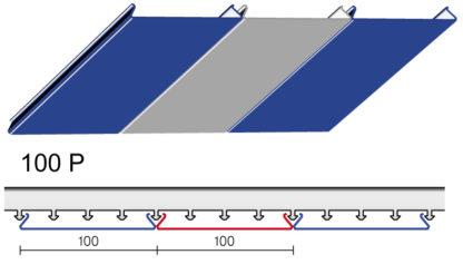 Вариант дизайна 100 P реечного потолка