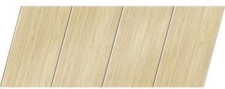 Реечный потолок с фактурой светлое дерево (бамбук) 100 P, цвет: панель - 202