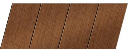 Реечный потолок с фактурой темное дерево (дуб медовый) 100 P, цвет: панель - 205