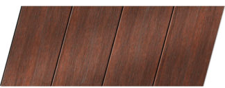 Реечный потолок с фактурой темное дерево (махагон) 100 P, цвет: панель - 209