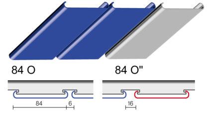 Вариант дизайна 84 O и 84 O″ реечного потолка