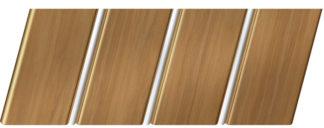 Реечный потолок с фактурой темное дерево 84 R(V), цвет: панель - 106, профиль - 141