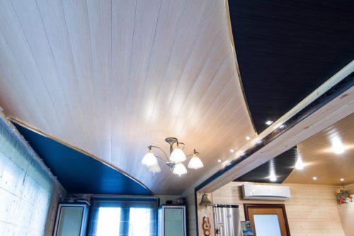 комбинация цветов в реечном потолке. USA Ceiling Group.